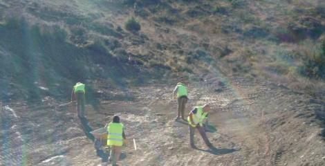 Preparación de terreno para balsa de bentonita. Urrául Alto 2011