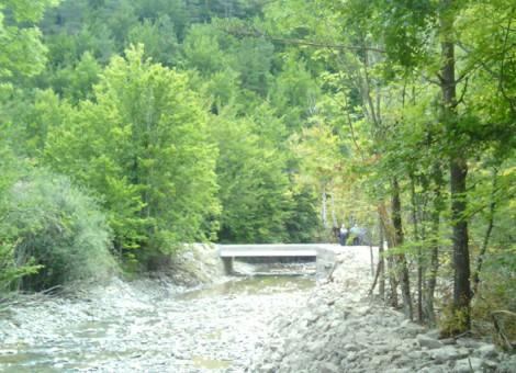 Estado final de reconstrucción de puente. Ochagavía 2014.