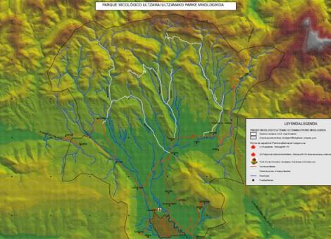 Detalle de cartografía preparada en proyecto de ordenación micológica